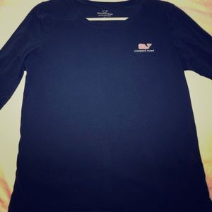 Women's navy blue long sleeve tee size large
